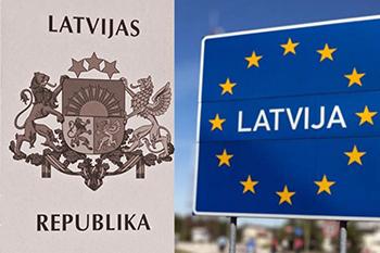 Российско-латвийская граница на автомобиле